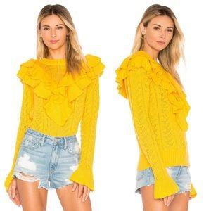 Tularosa | Marigold Manny Ruffle Sweater Sz Small